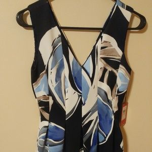 NWT Vince Camuto Sleeveless Fit & Flare Dress 2